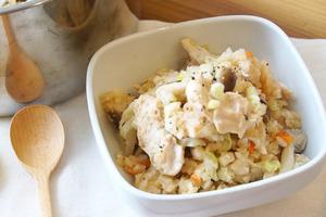 【電飯煲食譜】高蛋白懶人料理一煲搞掂! 雞胸肉蔬菜風味飯