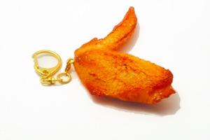 【日本美食】吃貨解餓良品!日本手作達人創作搞鬼美食飾物  雞翼尖鎖匙扣/溏心蛋耳環/花生耳環/肥牛電話殼