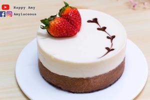 【蛋糕食譜】簡易零失敗免焗蛋糕 黑白朱古力慕絲蛋糕