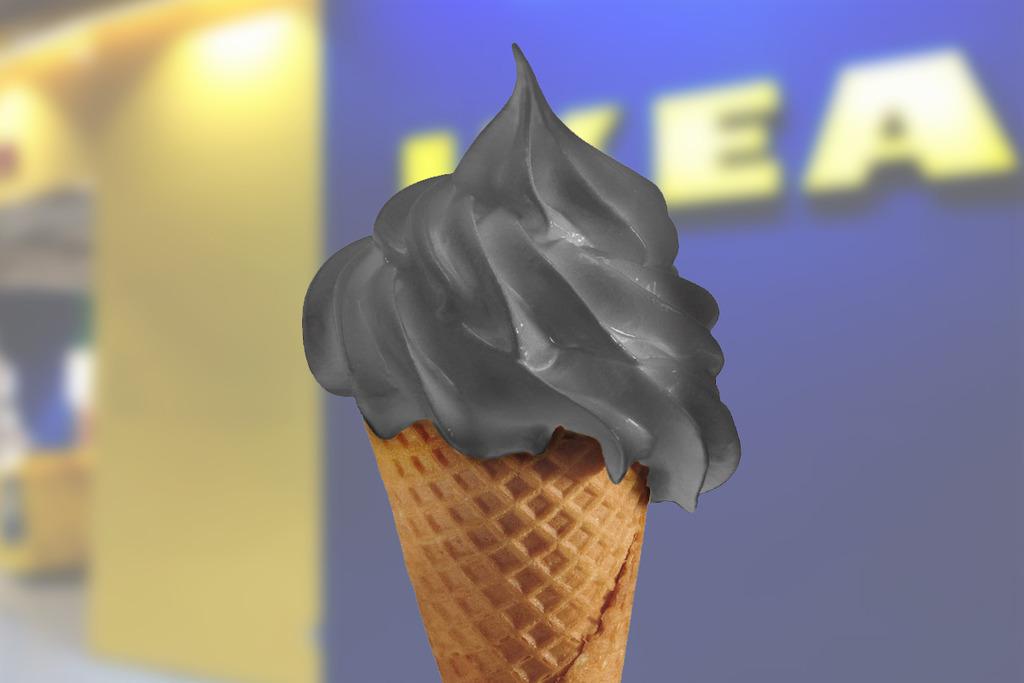 【IKEA】IKEA美食站雪糕新口味!期間限定竹炭荔枝新地筒
