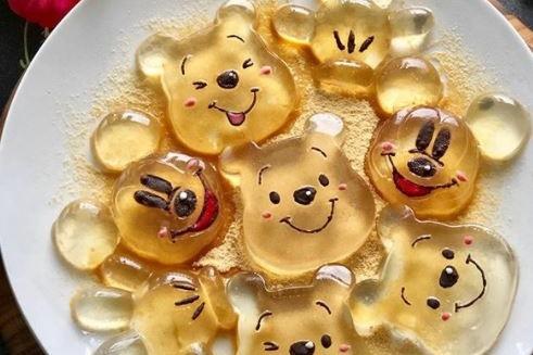 日本人自制卡通水玄信餅 Winnie the Pooh/三眼仔/布甸狗等造型