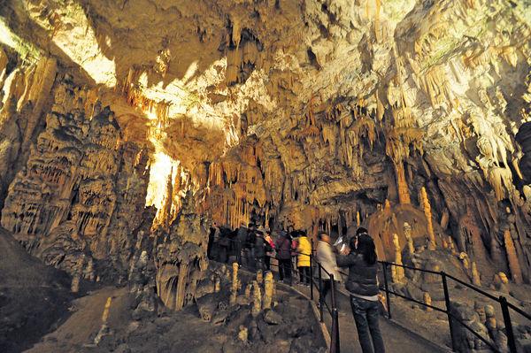 壯觀鐘乳石室 斯洛文尼亞波斯托伊納溶洞