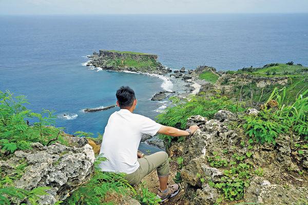 塞班自駕環島遊 觀海灣奇岩