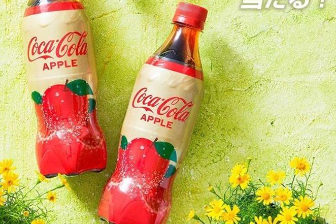 日本可口可樂期間限定 全新蘋果口味可樂!