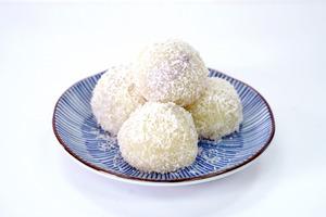 【甜品食譜】4步簡單完成煙韌甜品  芋泥糯米糍食譜