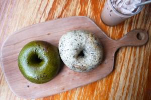 【大圍Cafe】大圍無添加手工烘焙麵包 麻糬Bagel/紫薯包/伯爵茶朱古力/焙茶Latte