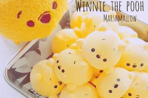 【Winnie the Pooh】自家製可愛Q版小熊維尼棉花糖 軟綿綿口感蓬鬆