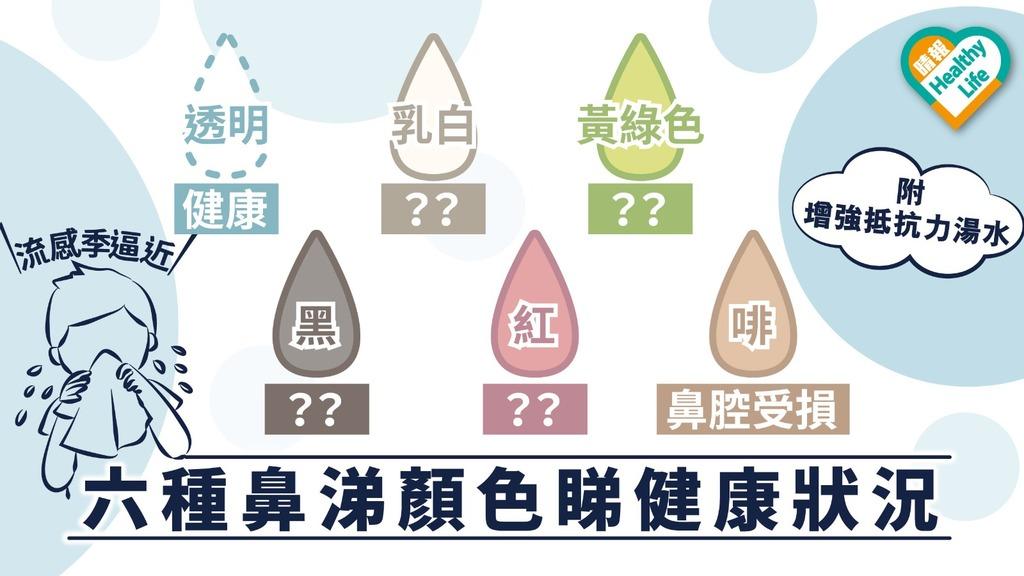 【流感季逼近】顏色睇健康狀況 中醫拆解六種鼻涕顏色病情