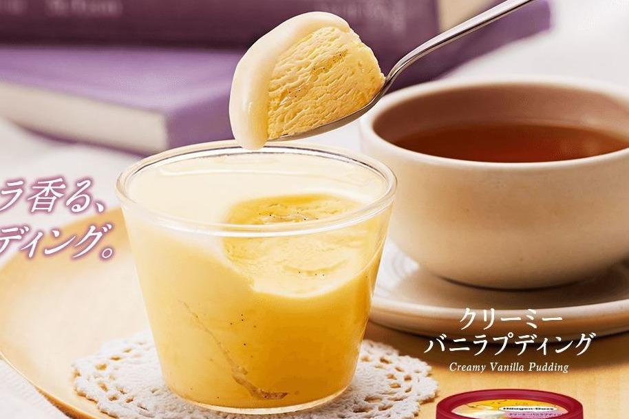 日本Häagen-Dazs新期間限定 軟滑雲呢拿布甸口味雪糕