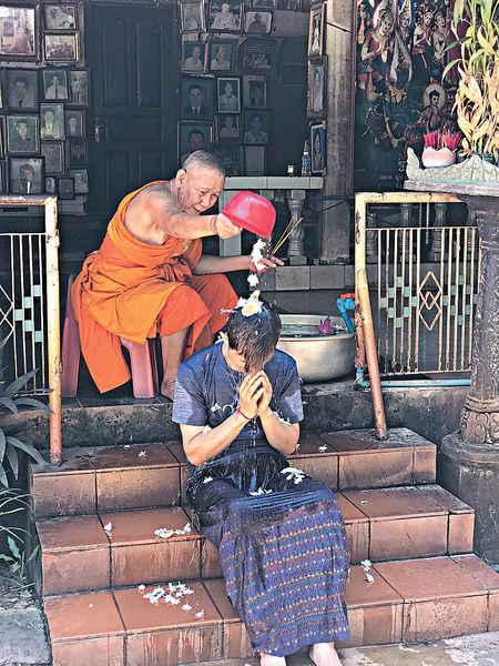 柬埔寨潑水祝福