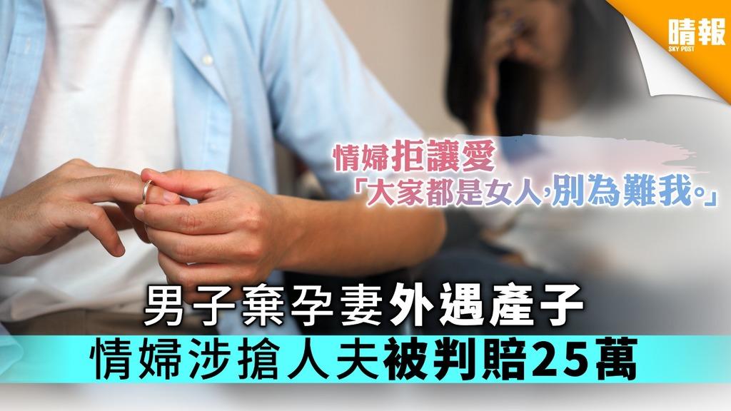 男子棄孕妻外遇產子 情婦涉搶人夫被判賠25萬【附香港法律小知識】