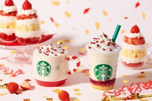 【日本Starbucks杯2019】日本Starbucks士多啤梨蛋糕牛奶星冰樂 聖誕老人水晶球杯即將登場!