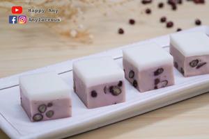 【甜品食譜】簡易自製中式糕點食譜 雙色椰汁紅豆糕