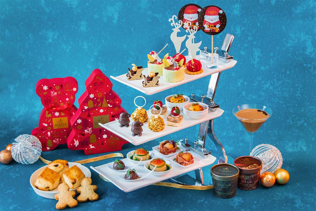 【尖沙咀下午茶】尖沙咀酒店Hotel ICON唯港薈推出GODIVA聖誕主題下午茶   任食GODIVA雪糕/雪橇馴鹿朱古力/樹頭蛋糕