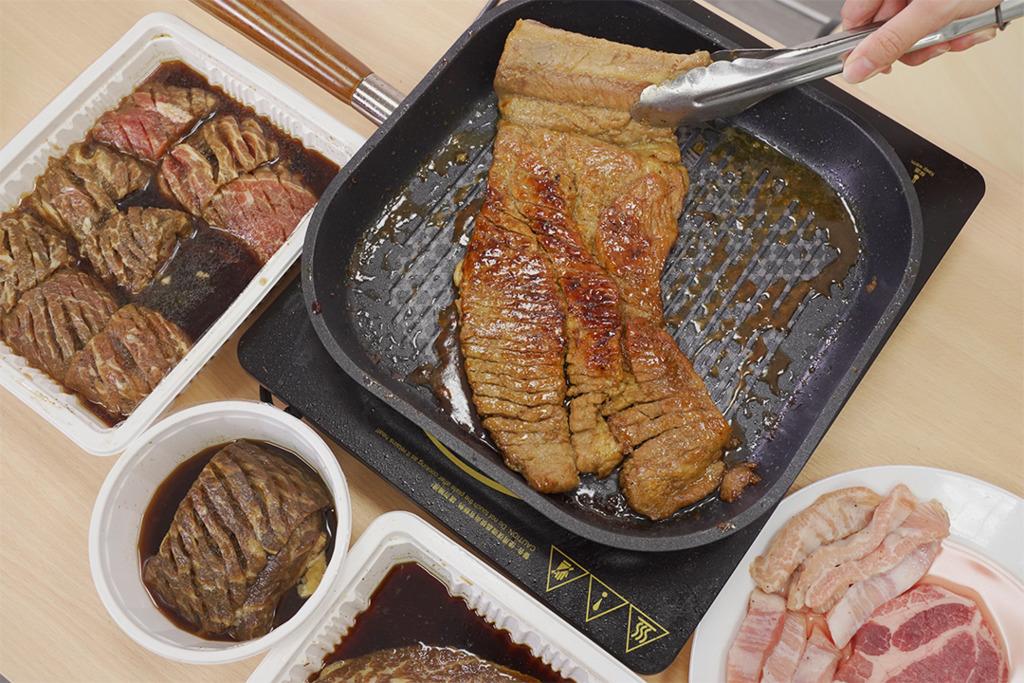 【韓式燒肉 香港】速遞送上門家中歎BBQ韓式燒肉 秘製醬醃牛肋骨/五花肉/豬頸肉
