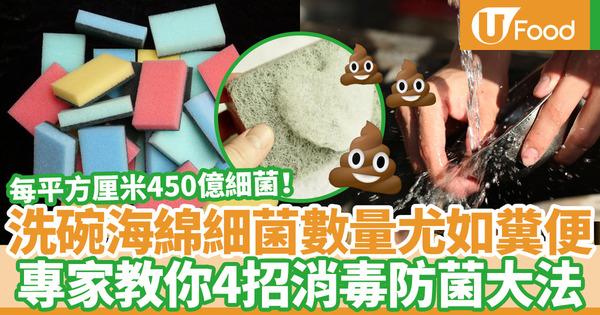 【洗碗】洗碗海綿/百潔布暗藏300多種細菌  專家教你4招消毒除臭防菌方法