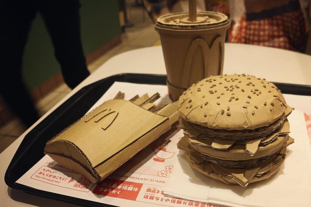 【日本美食】日本神級紙皮手作達人  紙皮砌出超逼真M&M/薯片叔叔/麥當勞餐