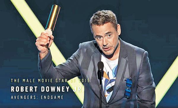 全美票選 羅拔唐尼贏年度男星