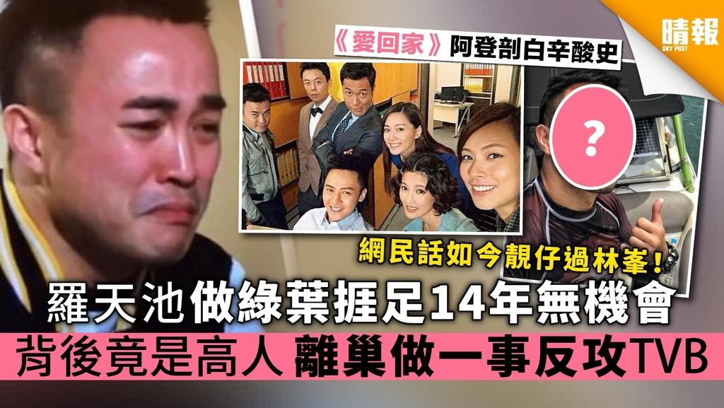 【愛回家】羅天池做綠葉捱足14年無回報 背後竟是高人 離巢做一事反攻TVB