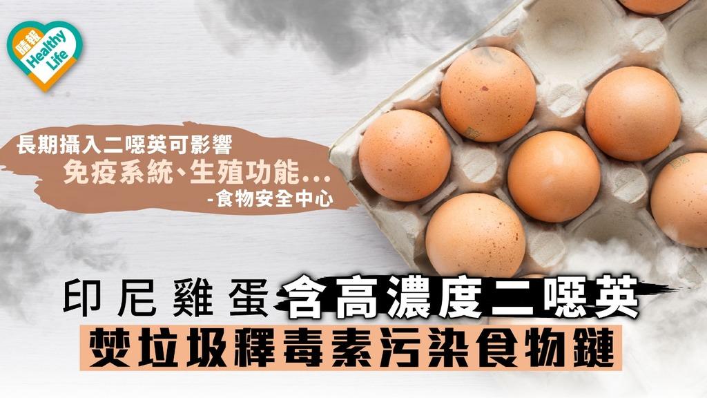 【食用安全】印尼雞蛋含高濃度二噁英 焚垃圾釋毒素污染食物鏈