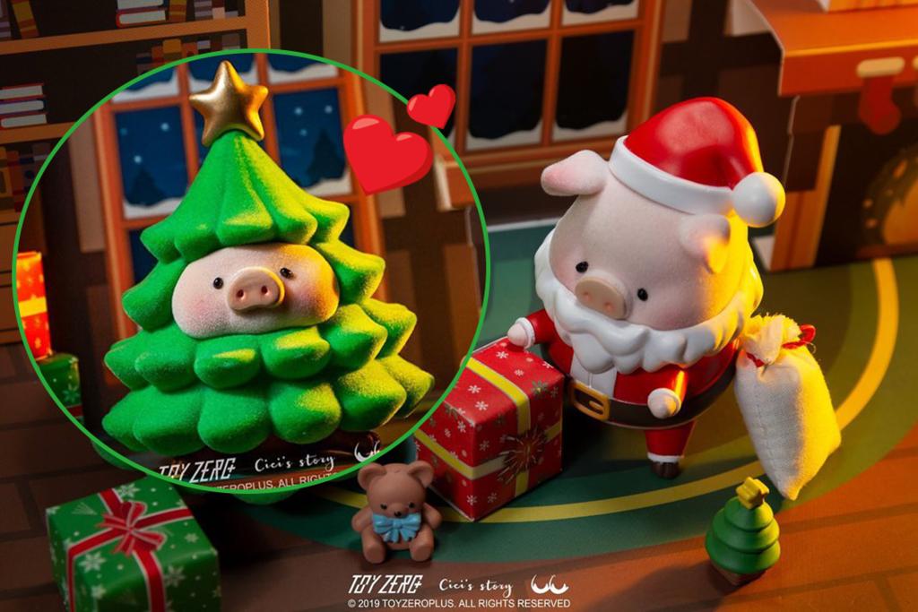 【精品玩具】肥嘟嘟罐頭豬Lulu換上聖誕造型 Lulu豬化身聖誕老人/聖誕樹/馴鹿