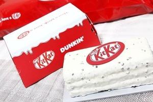 【韓國甜品】韓國冬甩店「DUNKIN'」聯乘KitKat 推出KitKat造型朱古力/曲奇忌廉口味蛋糕