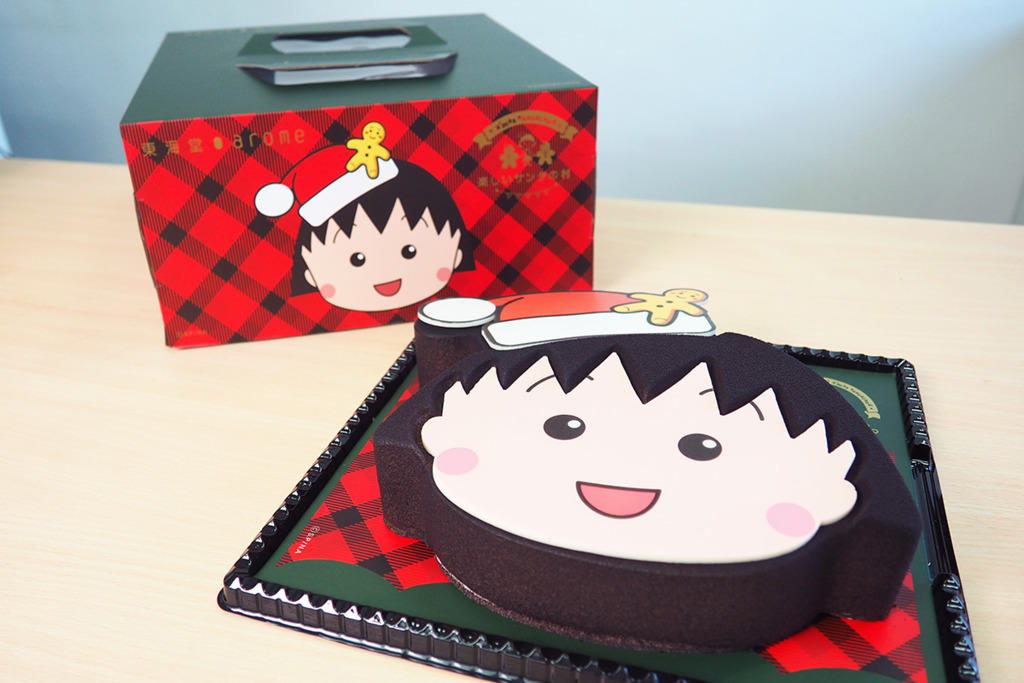 【聖誕蛋糕】東海堂聖誕2019櫻桃小丸子卡通蛋糕  換購限量版得意小丸子餐具/牛仔布袋