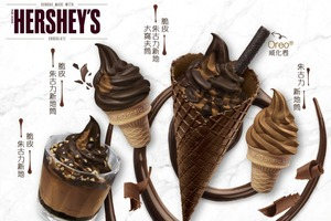 【麥當勞新品】麥當勞甜品站最新推出Hershey's甜品系列!Hershey's脆皮朱古力新地筒/窩夫筒登場