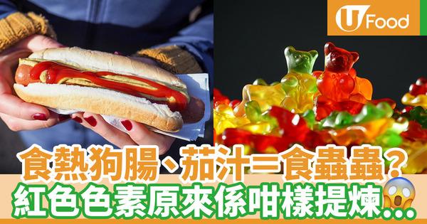 【食用色素】天然色素來自蟲蟲?熱狗腸、茄汁中的紅色色素由胭脂蟲提煉而成