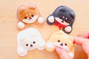 【柴犬棉花糖製作】DIY自製柴犬棉花糖食譜 可愛黑柴/赤柴/白柴/柴柴公仔造型
