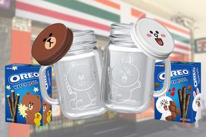 【便利店優惠】LINE FRIENDS聯乘OREO推新品 限量版BROWN/CONY多用途玻璃杯登場
