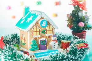 【聖誕2019】Deliveroo Food Market 消費滿$500即送超精美薑餅屋 陪你渡過溫馨聖誕!