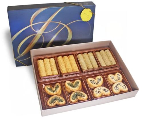 金裝精選禮盒 $268  紫菜及芝麻蝴蝶酥、 原味及伯爵茶蛋卷