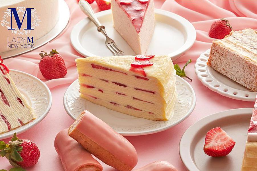 【台灣甜品】Lady M台灣限定士多啤梨千層蛋糕系列 草莓果肉夾心+白蘭地酒香鮮忌廉