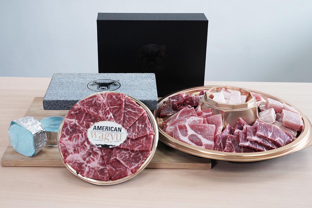 【外賣燒肉】試食家用熱石燒肉套餐 送可重用熱石板/和牛/多款肉類