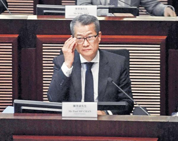 IMF再下調港經濟增長 陳茂波︰準備運用財政儲備