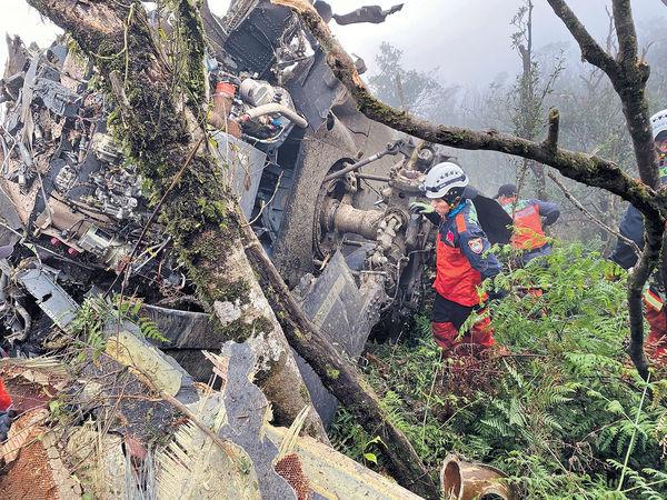 台軍「黑鷹」墜毀 8人罹難 參謀總長喪生
