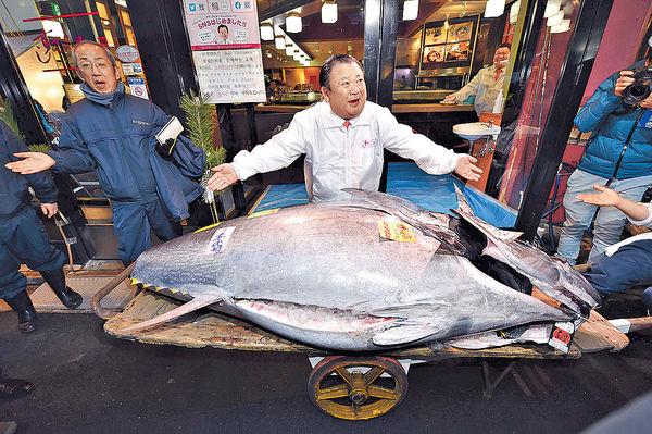 令和新年吞拿魚拍賣 $1390萬成交 史上第二貴