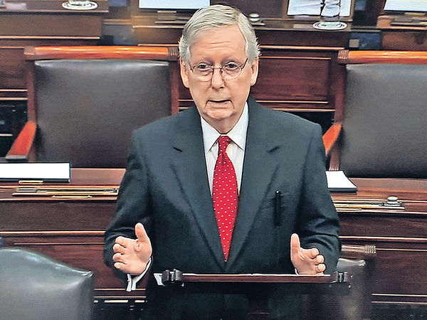 參院彈劾特朗普審訊 民主黨修訂動議被否決