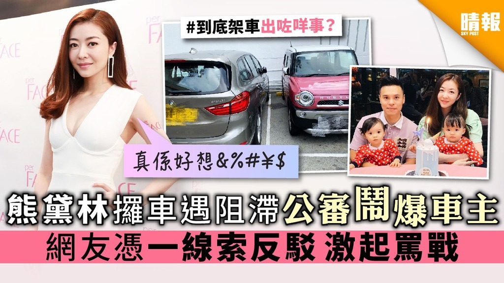 熊黛林攞車遇阻滯公審鬧爆車主 網友憑一線索反駁 激起罵戰