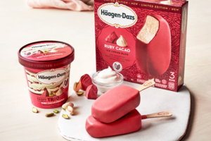 【美國超市必買】Häagen-Dazs情人節限定新口味 開心果紅寶石朱古力味雪糕/雪條