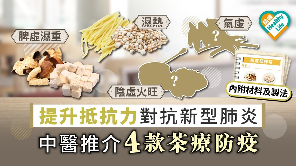 【武漢肺炎】提升抵抗力對抗新型肺炎 中醫推介4款茶療防疫