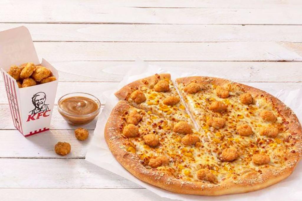 【英國美食】英國KFC聯乘Pizza Hut 炸雞芝士Pizza新登場!