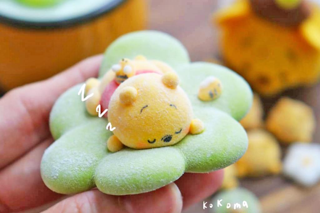 【小熊維尼蛋糕】台灣烘焙達人自製卡通小熊維尼甜品 Winnie the Pooh棉花糖/布丁/戚風蛋糕/Macaron