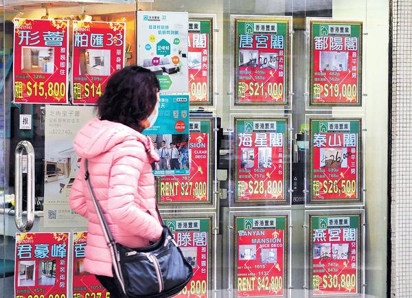 私樓呎租$35.5 按月跌0.5%