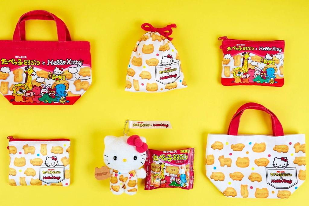【日本卡通精品】日本Hello Kitty聯乘愉快動物餅 推出水杯/收納罐/化妝袋等6款周邊產品