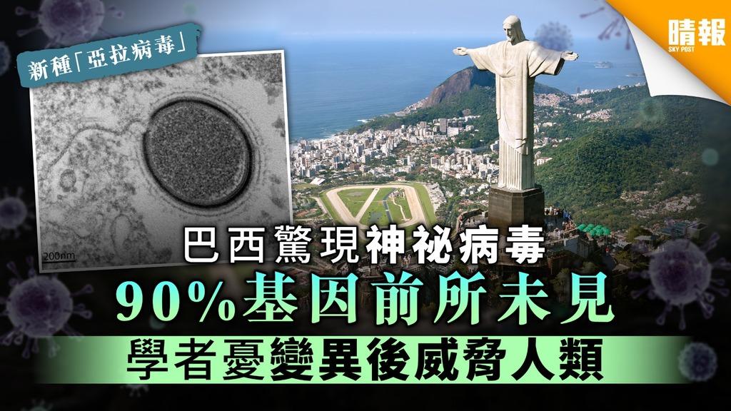 巴西驚現神祕新種病毒 90%基因前所未見 學者憂變異後威脅人類