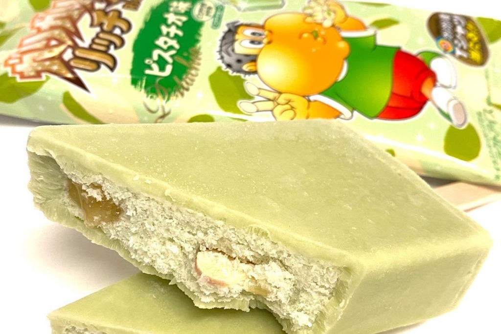 【日本便利店】日本推出開心果味雪條 內有啖啖香濃堅果醬!