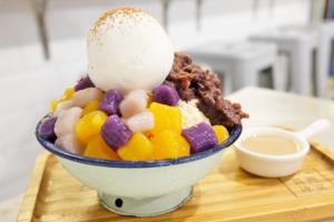 【長洲美食2020】長洲冰室手作芋圓甜品 Baileys三色芋圓冰/椰皇燉奶/抹茶蕨餅