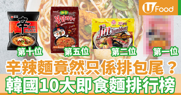 【韓國即食麵2020】韓國2020年最新即食麵排行榜  三養辣雞麵成為大贏家!